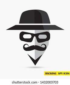 Spy icon, invisible icon. Spy sunglasses. Vector illustration