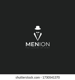 Spy or Men minimal modern Logo. Vector illustration eps 10, Editable in Vector Format.