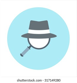 Spy ware theme, flat style, colorful, vector icon for info graphics, websites, mobile and print media.