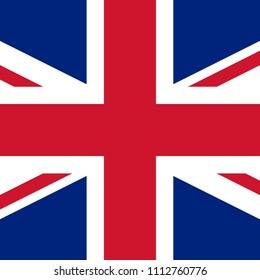 SQAURE BRITISH FLAG