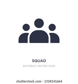 squad icon on white background. Simple element illustration from Tools and utensils concept. squad icon symbol design.
