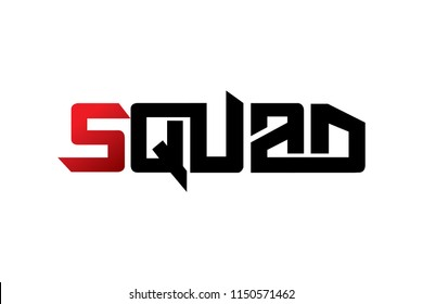 Squad typography design vector, for t-shirt, poster and other uses