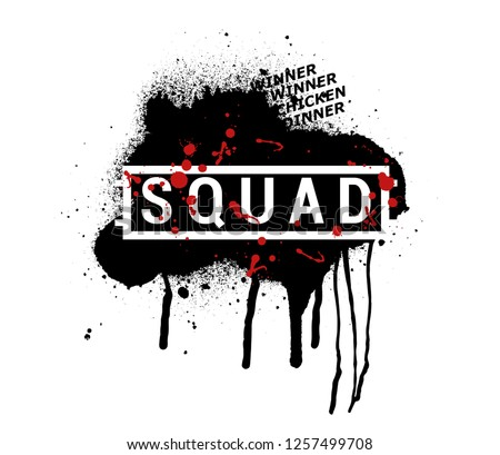 Squad Vector Abstract Illustration Pubg Grunge Stock Vector Royalty