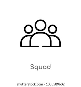 squad vector line icon. Simple element illustration. squad outline icon from tools and utensils concept. Can be used for web and mobile