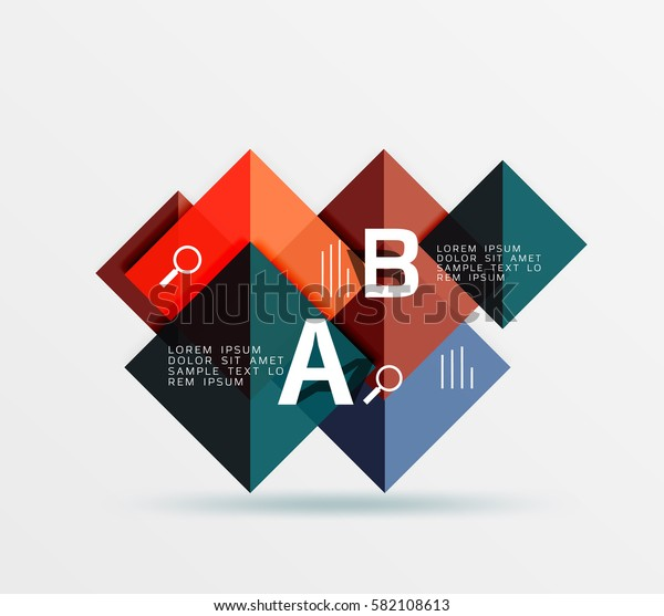 Square banner. Vector template background for workflow layout, diagram, number options or web design