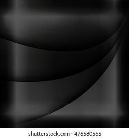 The square black background