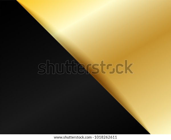 Square Black Golden Abstract Background Design Stock Vector