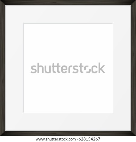 Square Blank Picture Frame Template Realistic Stock Vector (Royalty ...
