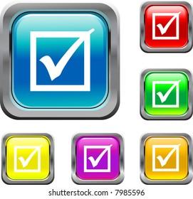 Square Check Mark Button
