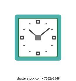 Square clock. flat icon