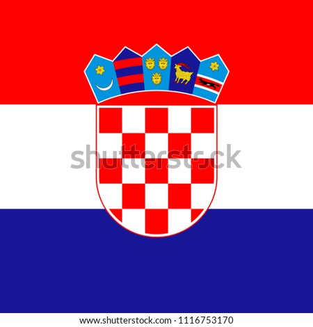 Square Croatoa Flag Stock Vector (Royalty Free) 1116753170