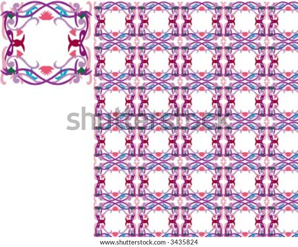 Square cube pattern