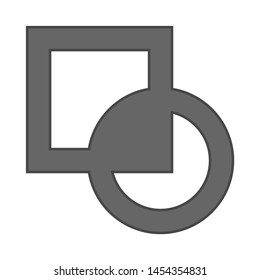 square cycle icon. flat illustration of square cycle. vector icon. square cycle sign symbol