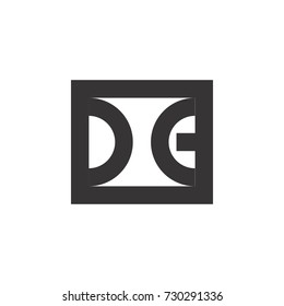 square with d and g letter logo