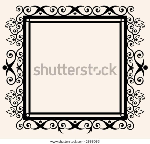 square decorative frame