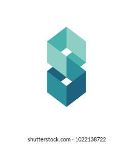 Square design for logo icon