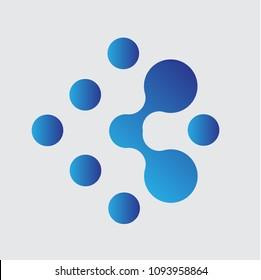 Square Diamond Connection Dots Logo Icon Emblem