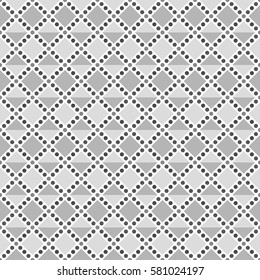square and dot image,gray scale tile - Geometric seamless pattern