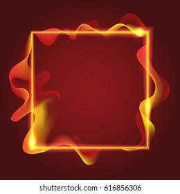 Square fire template