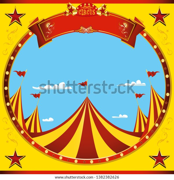 a square flyer on circus theme for you