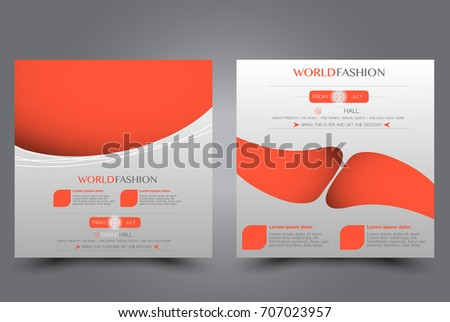 square flyer template brochure design annual stock vector royalty