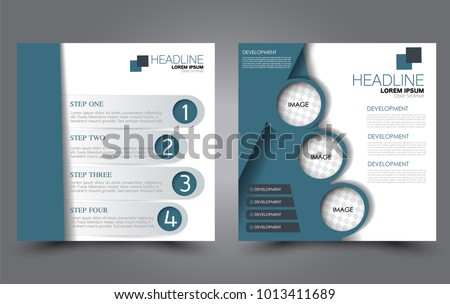 square flyer template simple brochure design stock vector royalty
