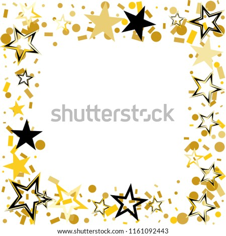 Square Frame Border Christmas Gold Black Stock Vector (Royalty Free ...