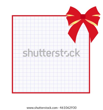 square frame exercise book red gift stock vector royalty free