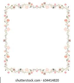 Square frame of roses