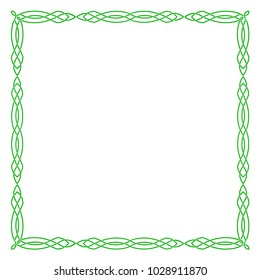 A square green Celtic frame.