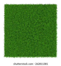 Square green grass banners, vector illustration.