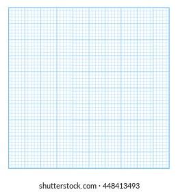 Square grid background. Blank millimeter. Vector.
