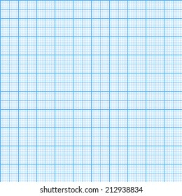 Square grid seamless pattern. Vector illustration. Millimeter engineering paper background.