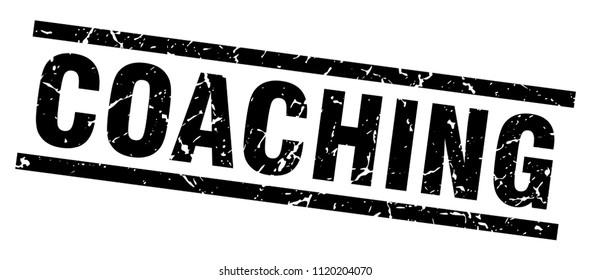 square grunge black coaching stamp