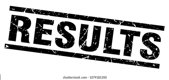 square grunge black results stamp