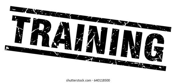 square grunge black training stamp