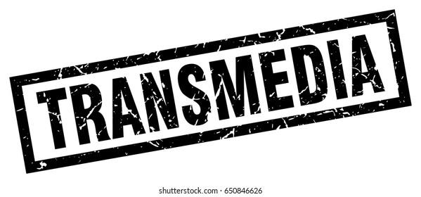 square grunge black transmedia stamp