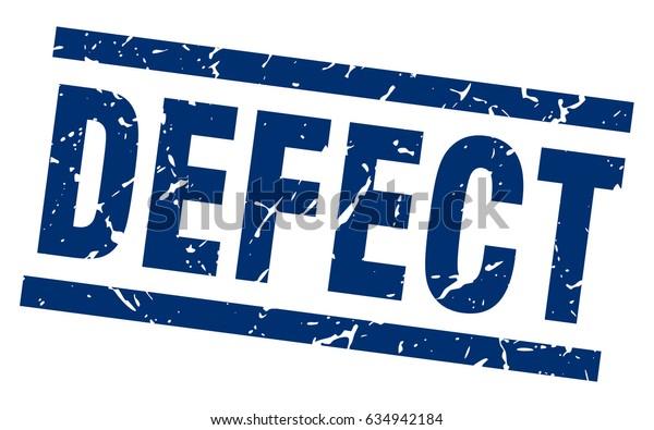 square grunge blue defect stamp