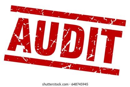 square grunge red audit stamp