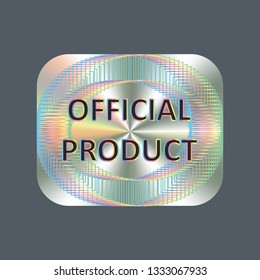 Square hologram realistic sticker. Vector element for product quality guarantee