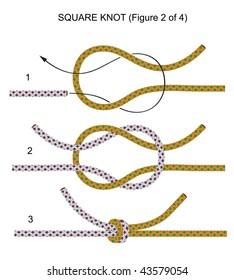 Square knot (illustration 2 of 4)