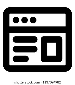A square layout with some biodata and three dots over the edge, icon for web design
