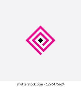 square letter p spiral logo vector design
