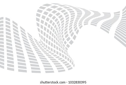 square mesh abstract background, grayscale grid on white