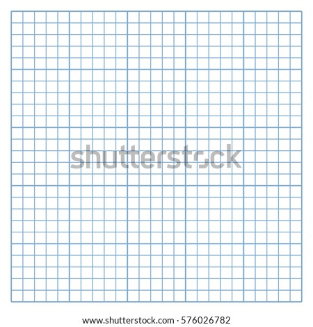 Square Mesh White Graph Paper Template Stock Vector (Royalty Free ...