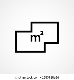Square Meter icon. Simple element illustration. Square Meter outline icon design from real estate collection. Web design, apps.