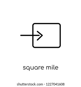 Square Mile icon. Trendy modern flat linear vector Square Mile icon on white background from thin line business collection, editable outline stroke vector illustration