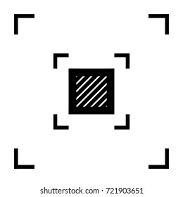Square minimal icon. Vote line vector icon for websites and mobile minimalistic flat design.