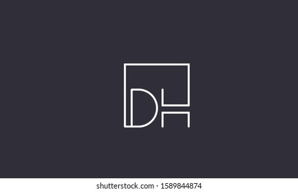 Square monogram logo DH,HD,D and H