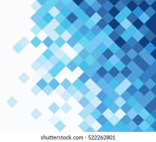 square mosaic vector background corner design - Shutterstock ID 522262801